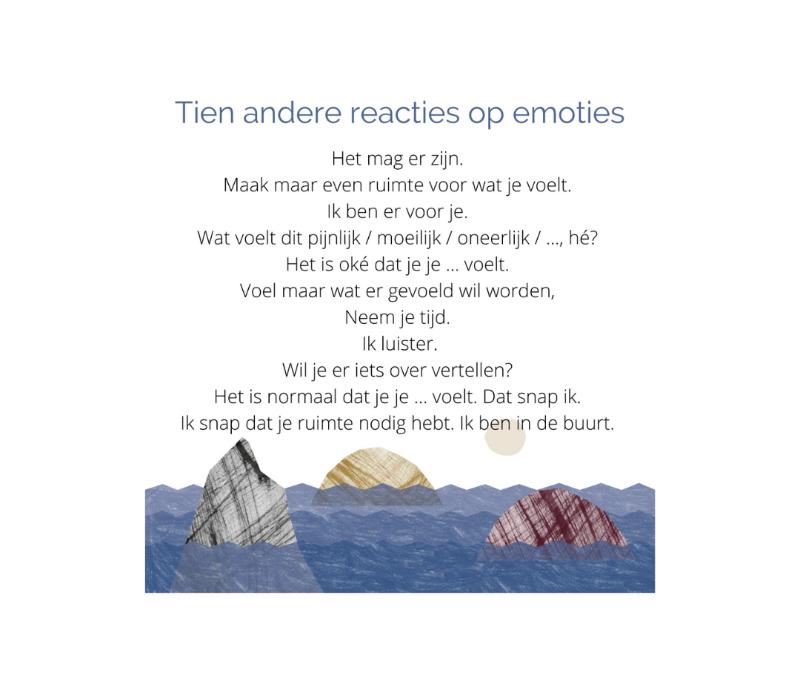 tien andere reacties op emoties